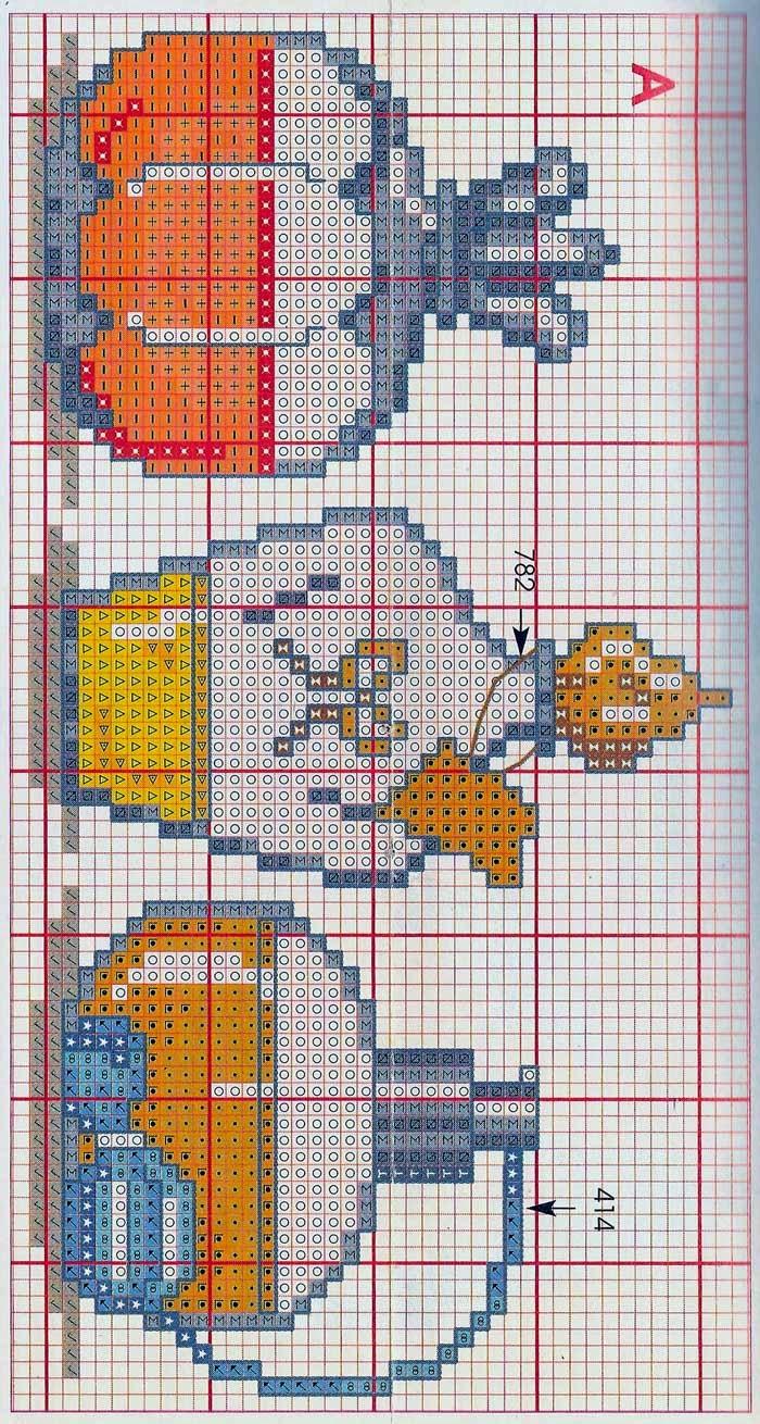 Hobby lavori femminili - ricamo - uncinetto - maglia: schema punto croce bagno 10