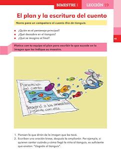 Apoyo Primaria Español 2do grado Bloque 1 lección 19 El plan y la escritura del cuento