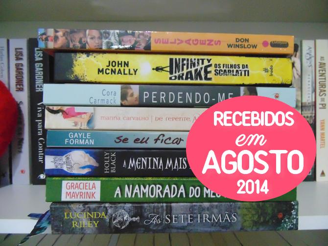 Livros que recebi na minha Caixa Postal (agosto 2014)