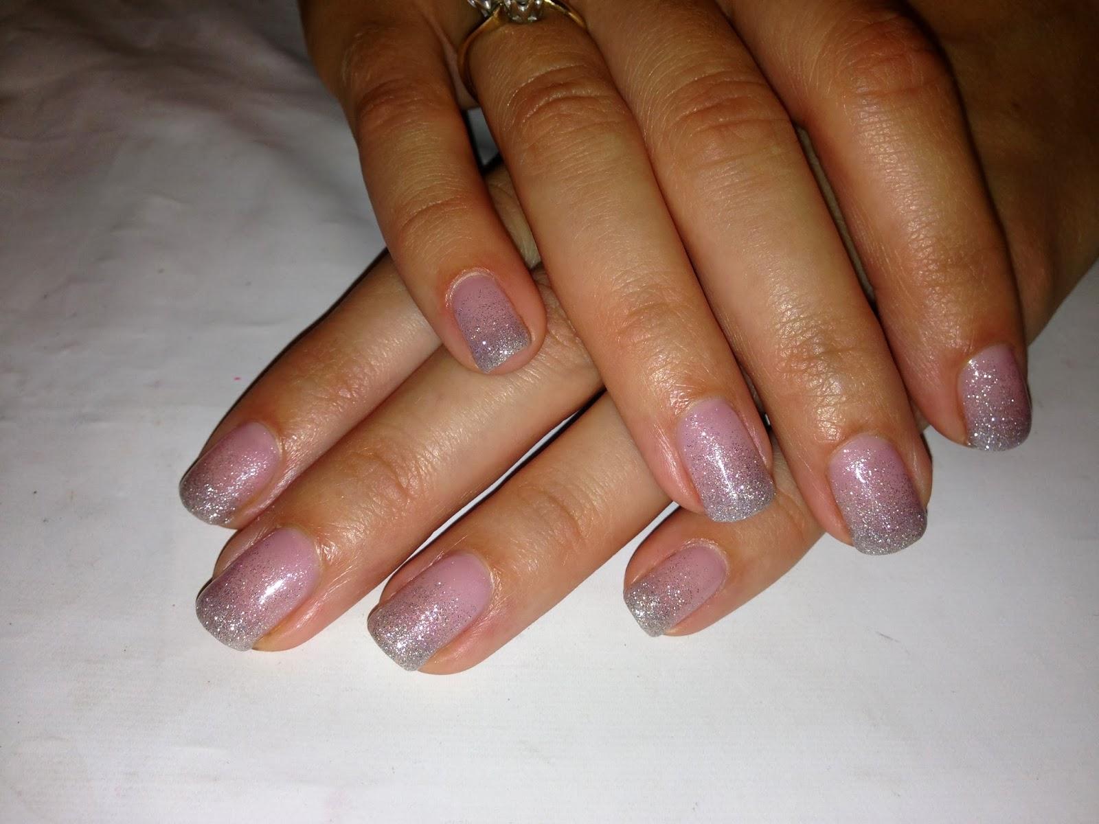 Brush Up And Polish Up Cnd Shellac Nail Art Princess Glitter Fade