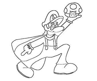 #20 Luigi Coloring Page