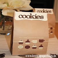 Small paper bags for cookies