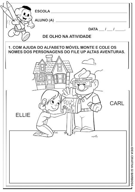 Atividade Educação Infantil / Filme Up Altas Aventuras