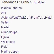 "#AliensWantATwitcamFromTokioHotel"" fue TT en Francia 44"