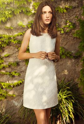 vestido blanco Massimo Dutti primavera verano 2013 mujer