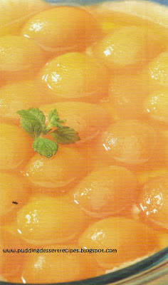 Creole Rice with Glazed Apricots Pudding