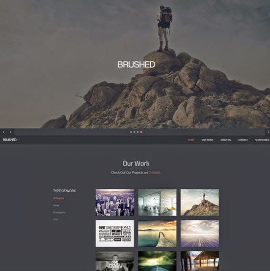 Brushed | Responsive One Page Template