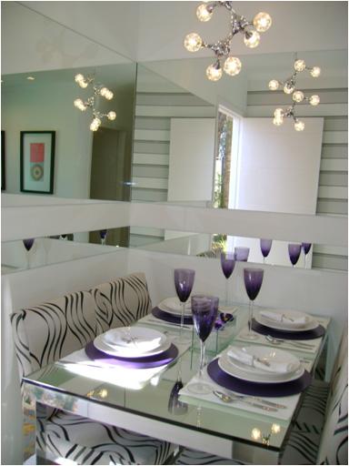 Sala De Jantar Com Copa ~ Decoração de Interiores Casa Espelho na Sala de Jantar
