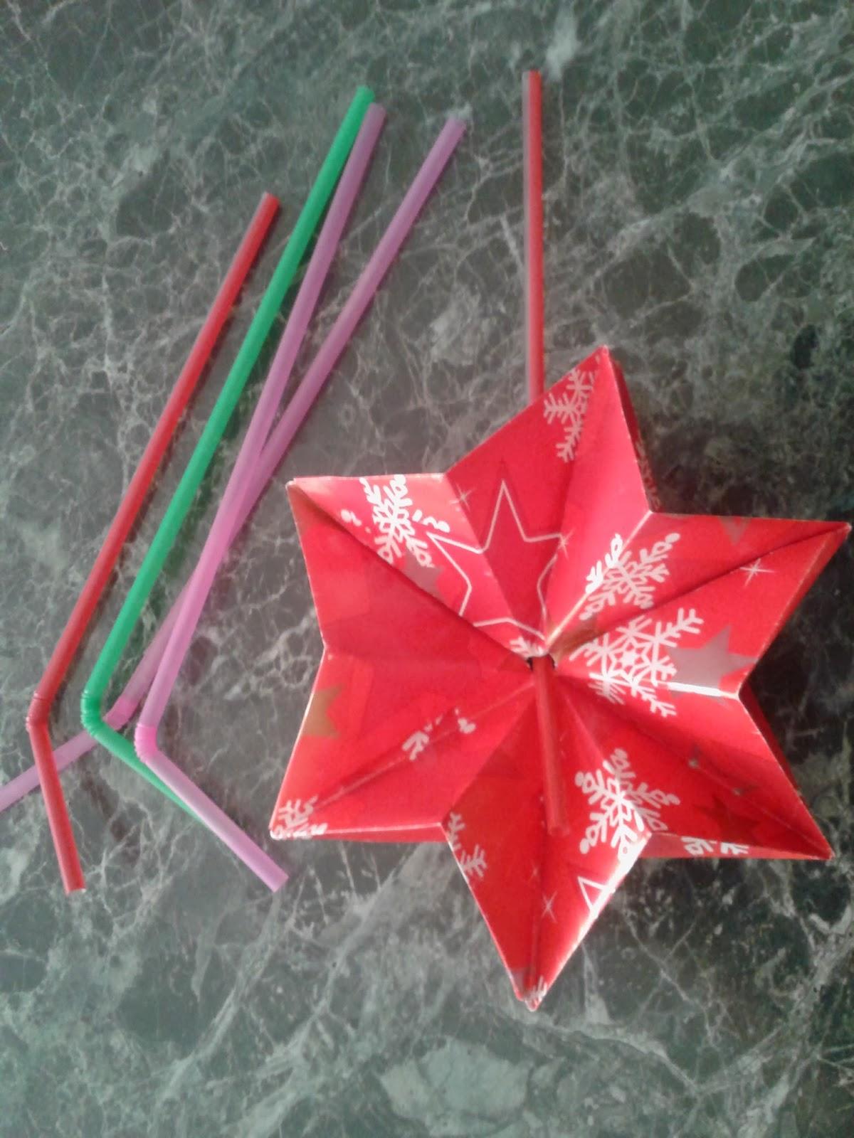 Новогодняя звезда на ёлку своими руками