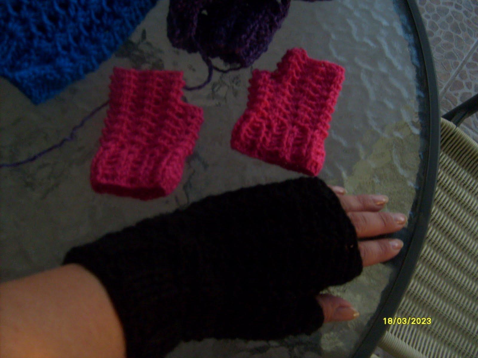 Tejiendo crochet y más...: guantes sin dedos