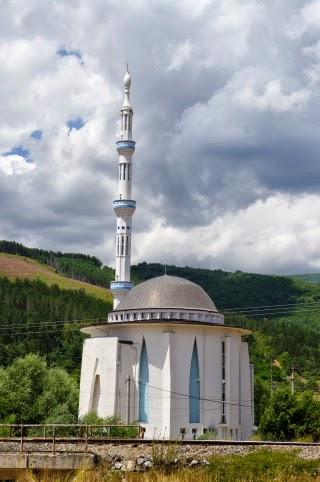 minaret and mosque of Kichevo, Republic of Macedonia