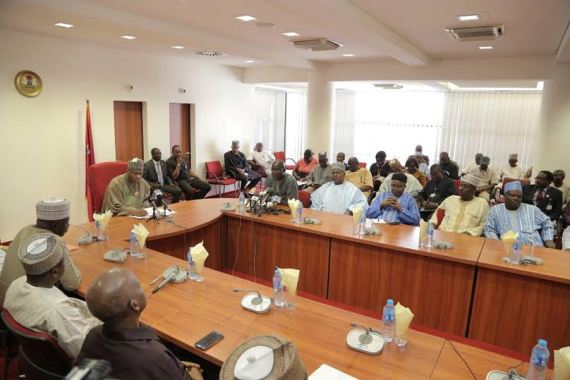 Bukola Saraki and Nigerian Journalists.