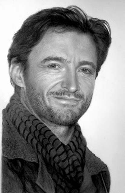 Hugh Jackman grafitti portrait