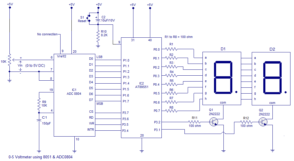 Voltmeter Using Microcontroller also Fcpllz additionally The Actual Size Of Single Sided Copper Pcb Layout And  ponents Layout additionally Dtmf Based Load Control System Circuit Diagram likewise Nv H. on project digital voltmeter circuit diagram