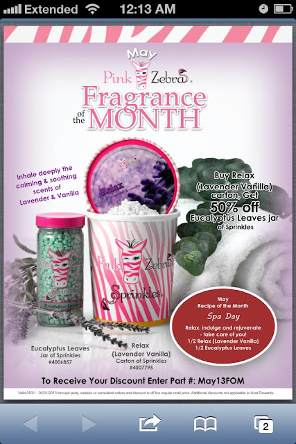 Pink Zebra May fragrance of the  month special image