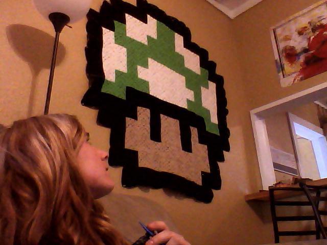 Craftyallie Super Mario Mushroom Crochet Blanket