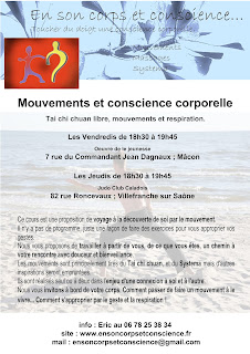 Tai chi chuan, Qi gong, Mouvements respiration Macon 71