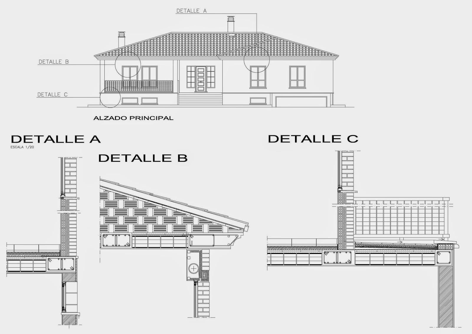 Rc i e s gran v a alicante pr ctica 10 11 12 planos 11 for Fachadas en planos arquitectonicos