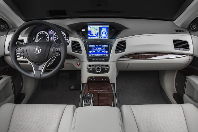 Interior view of 2016 Acura RLX Sport Hybrid