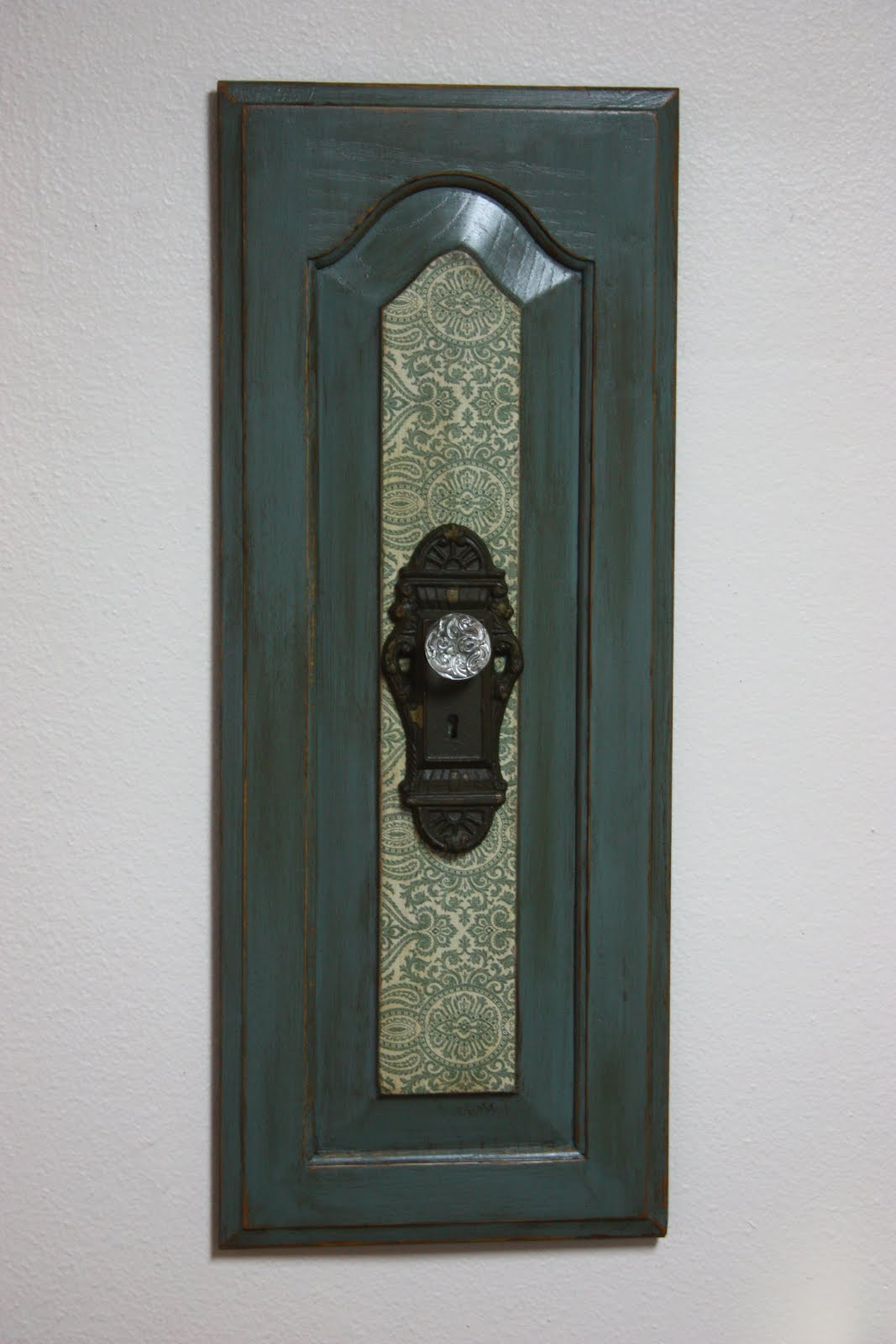 At Home: Green Wall Hanging with Antique Door Knob