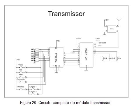Circuito completo do módulo transmissor