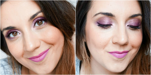 Lilac Eyes Makeup Look
