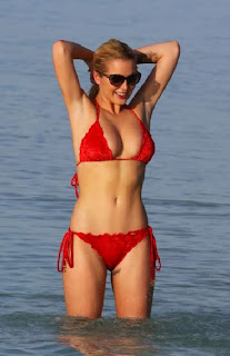 Helen Flanagan Red Bikini Maldives