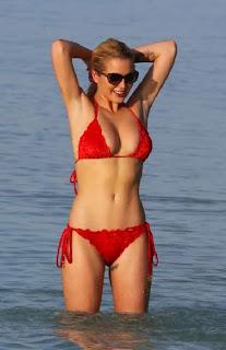 Helen Flanagan Red Bikini Maldives