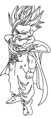Gohan para colorear 4 dibujo - Dessin de sangohan ...