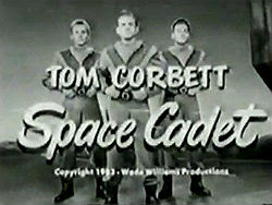 Title screen from 'Tom Corbett, Space Cadet'