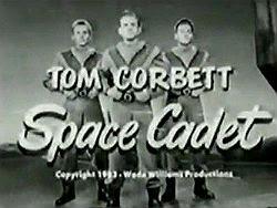 Title screen from 'Tom Corbett, Space Cadet'