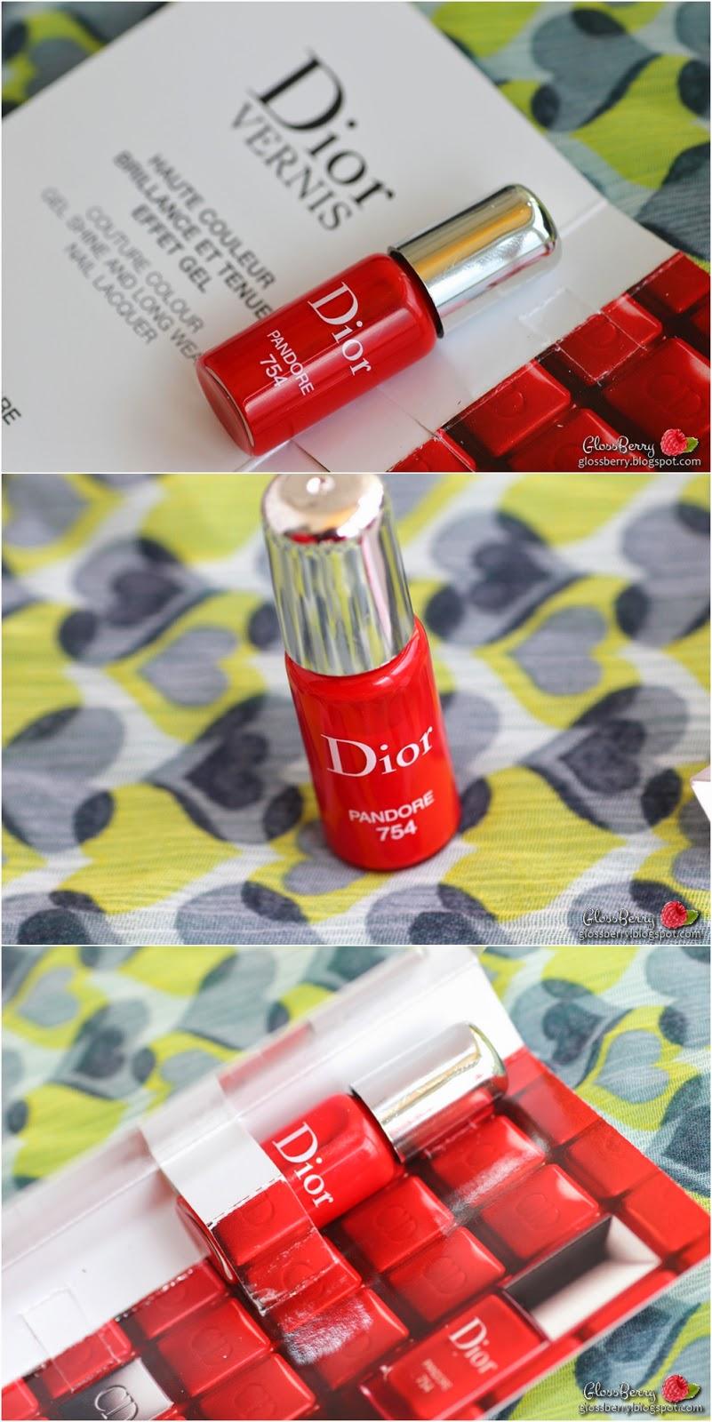 dior mini pandore 754 לק דיור אדום