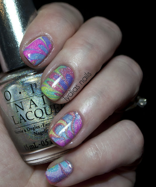 water marble with opi