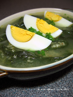 spinach-millet-soup-with-boiled-eggs