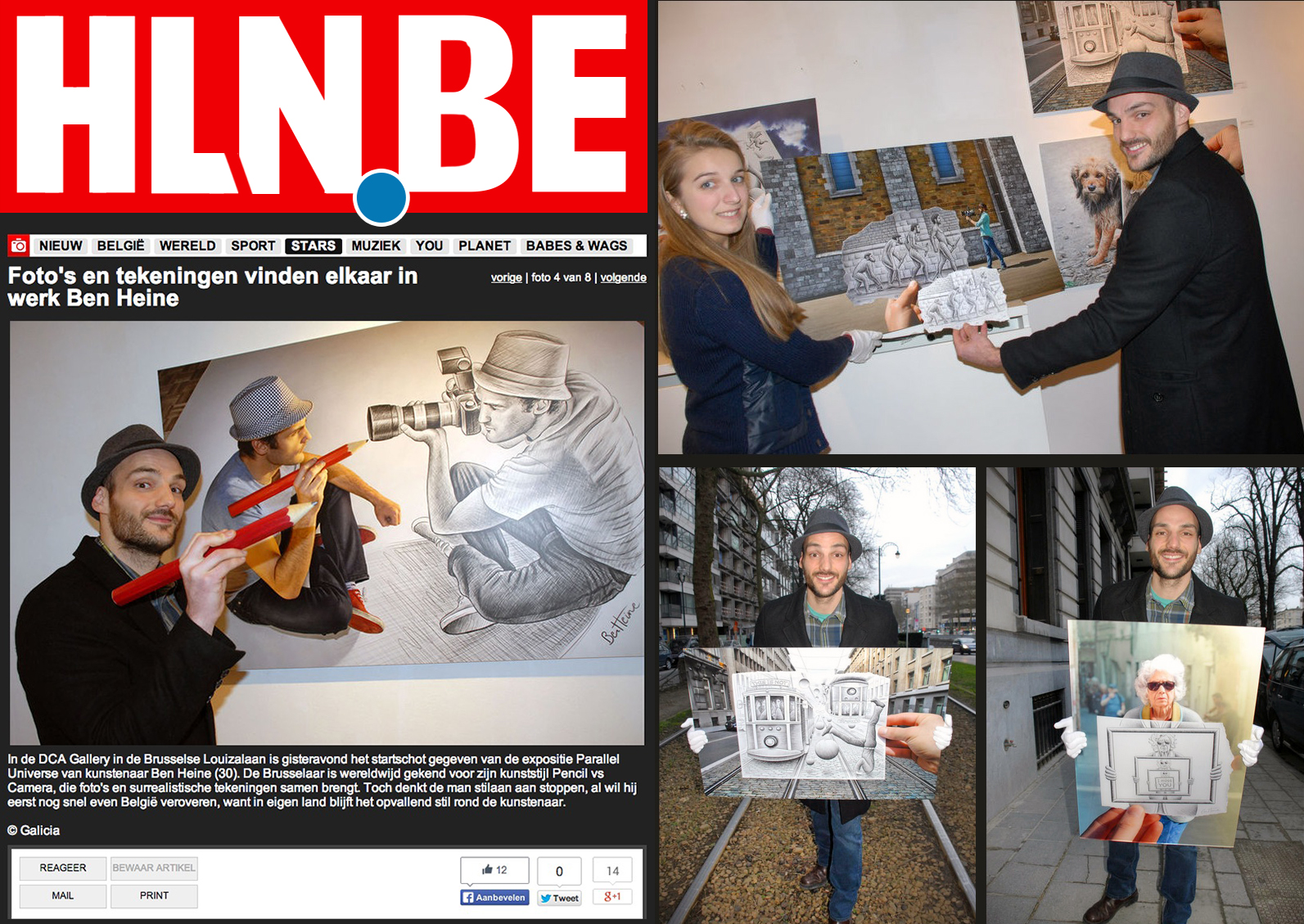 Ben Heine Art - HLN - Belgie (January 2014)