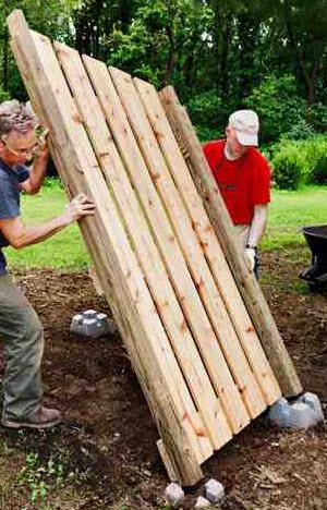 Comment construire un abris buches - Construire un abri poubelle ...