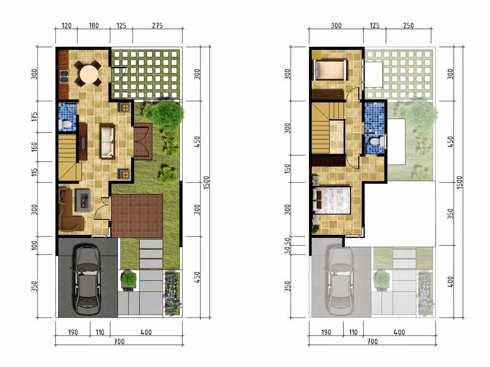 denah rumah minimalis dua lantai my desain rumah