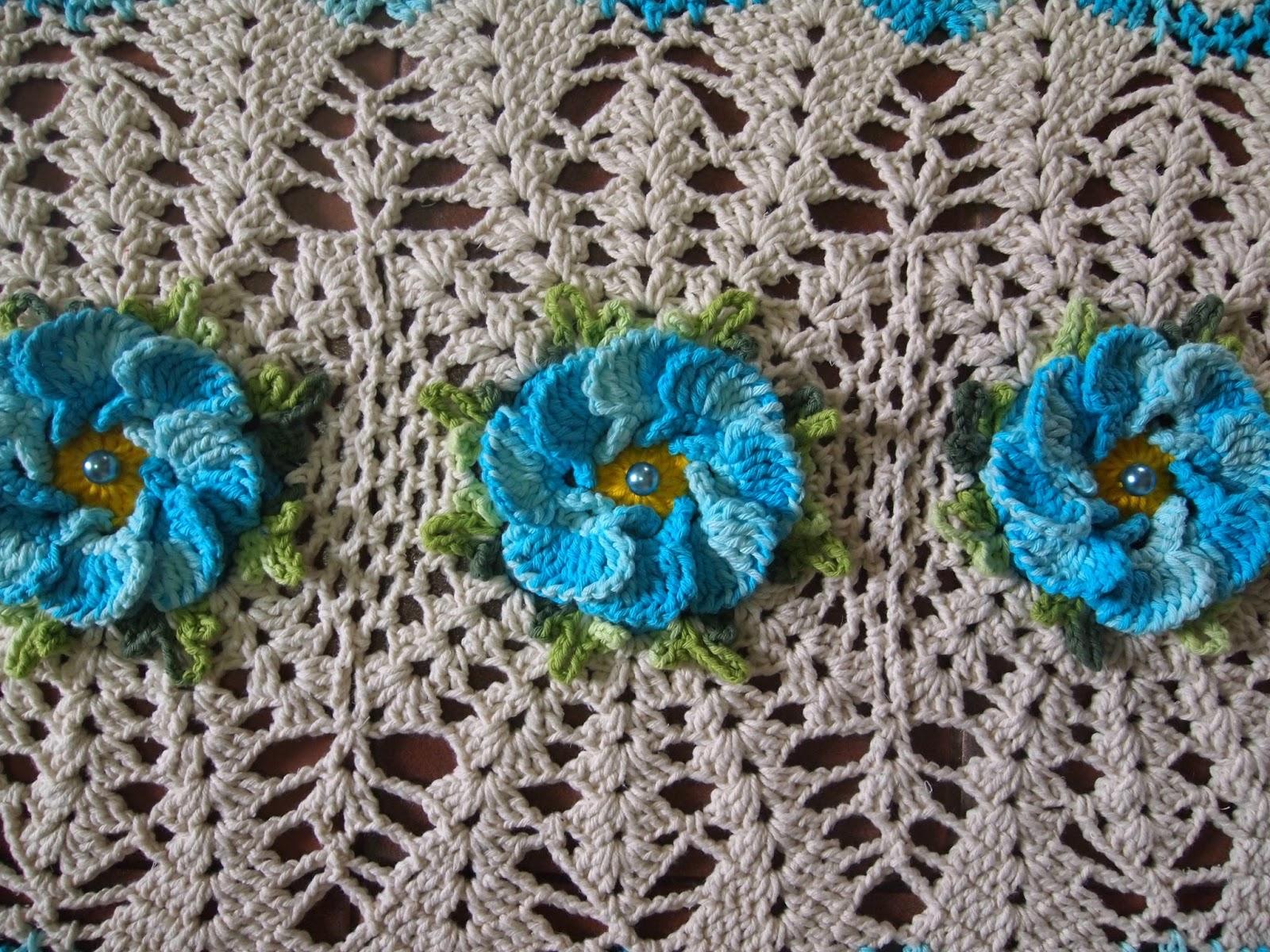 os croches da elsa tapete oval   flor pav o