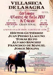 VILLASECA DE LA SAGRA 01-07-2017- CERTAMEN ALFARERO DE PLATA 2017. IV EDICCIÓN - GRAN FINAL.