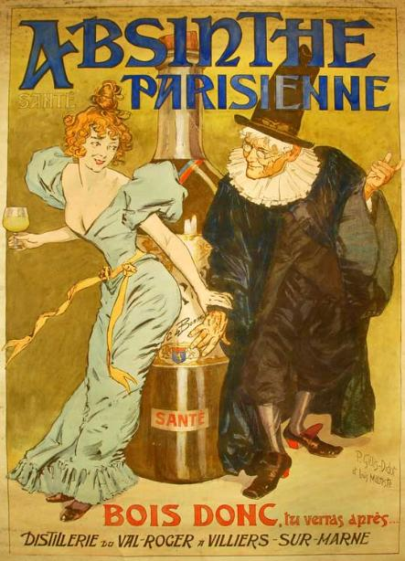 Absinthe Parisienne poster by P.Gelis-Didot and Louis Malteste