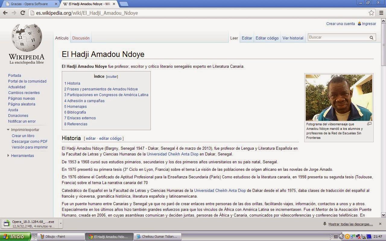 Amadou Ndoye en la Wikipedia