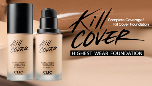 Clio Kill Cover Highest Wear Foundation