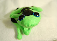 Neon Green Plush Poison Dart Frog
