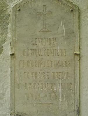 Josué Silveira foi homenageado com fundador do atual cemitério de Itapuã, em 1885.