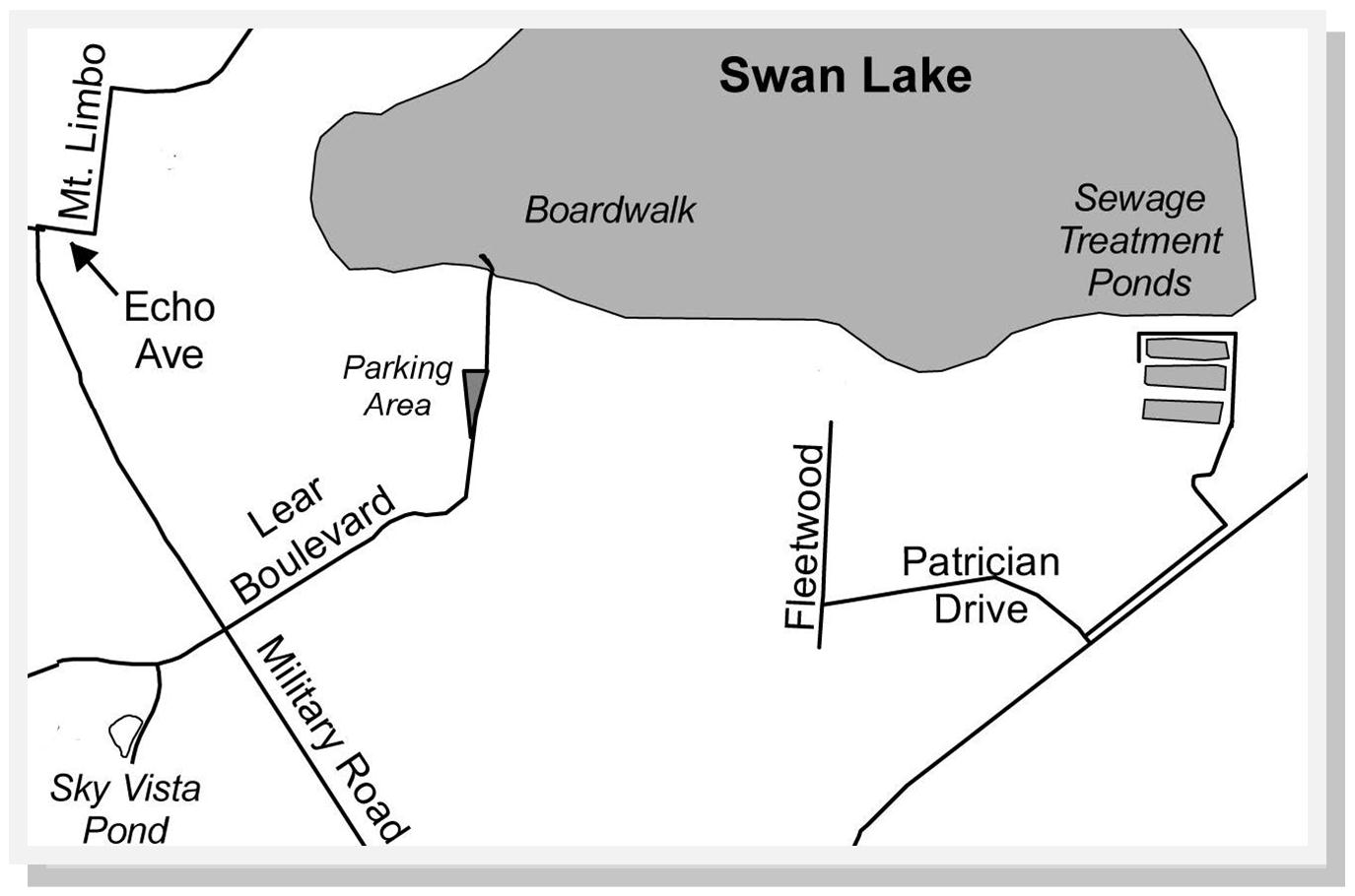 Swan Lake Nature Study Area Contact Us Map - Us map study guide