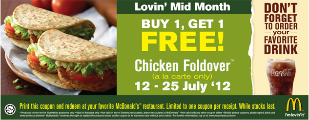 kupon mcdonalds chicken foldover beli 1 percuma 1