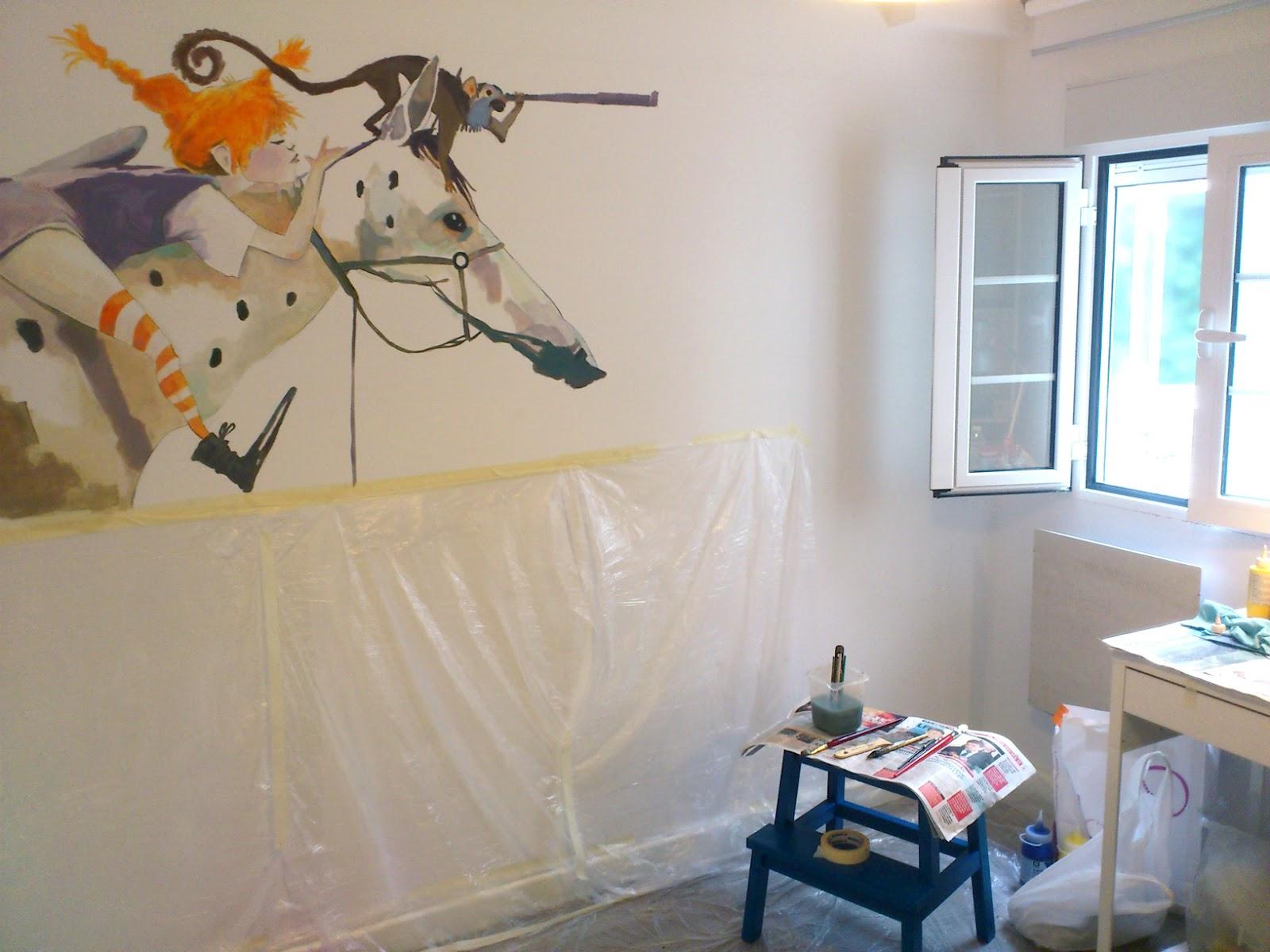 Teresa mundo pintura mural para habitaci n for Mural para habitacion