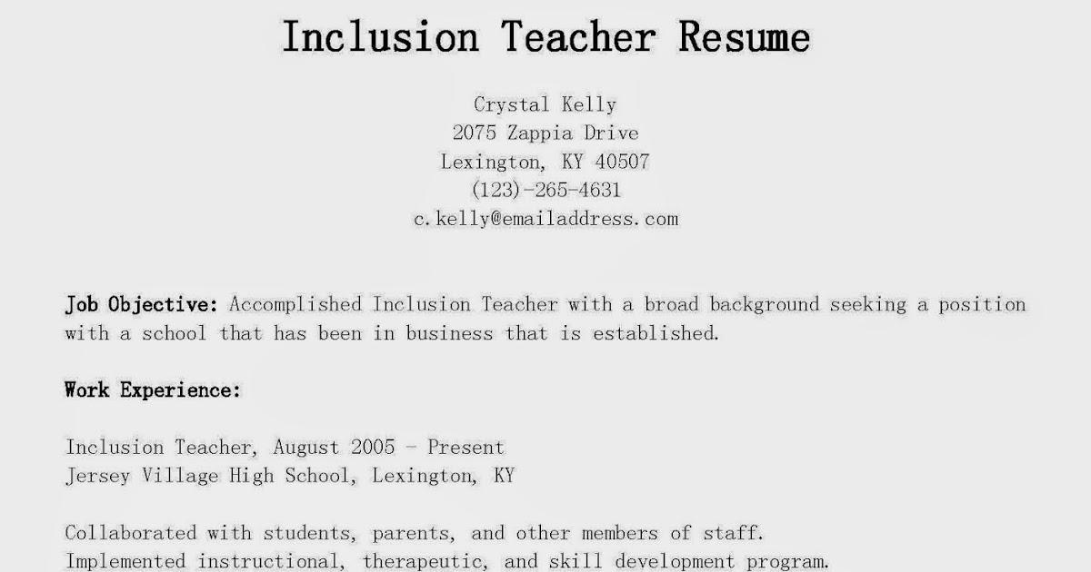 resume sles inclusion resume sle