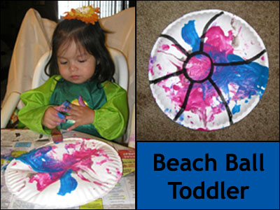 beach ball toddler craft from Gummy Lump