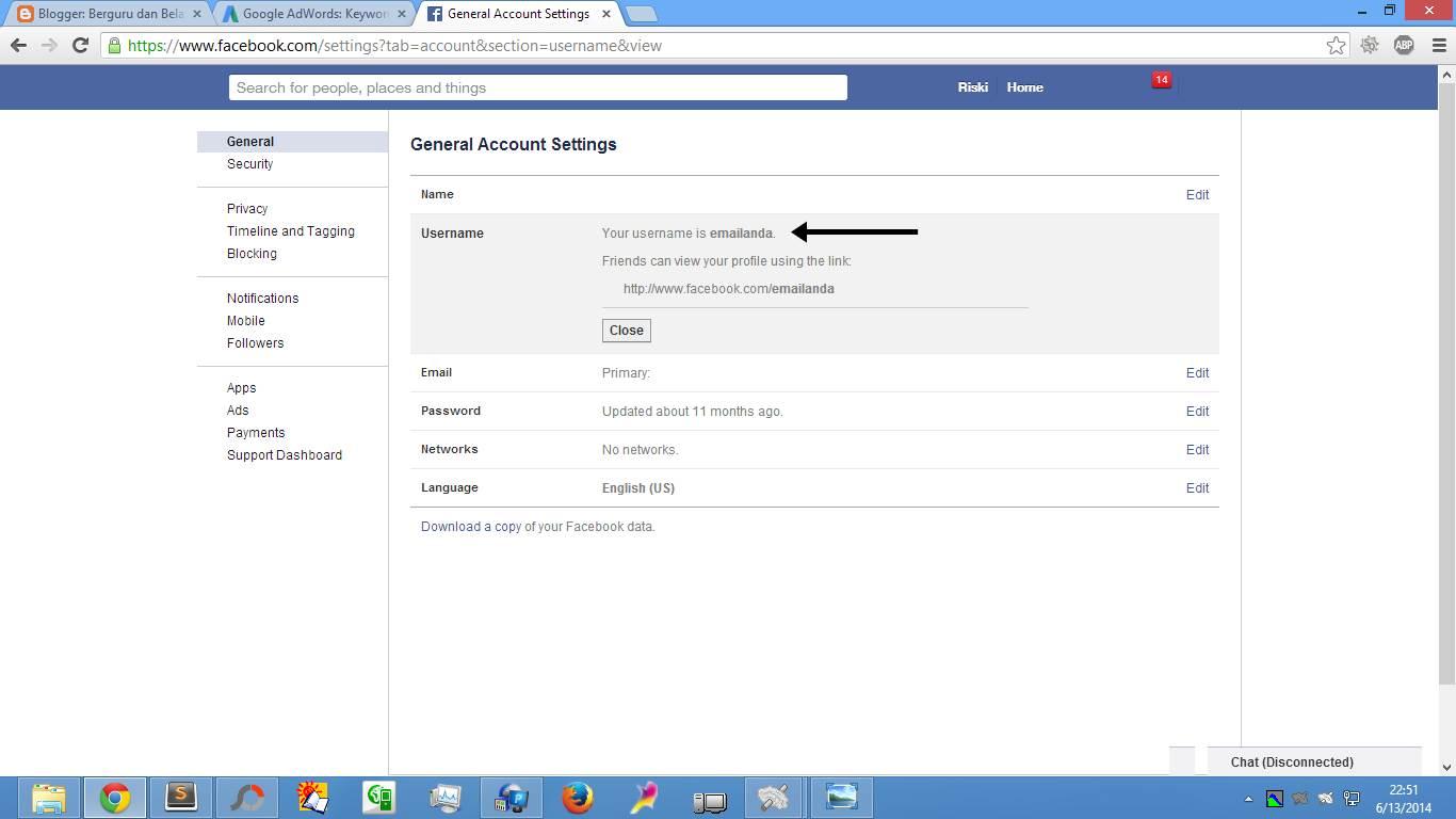 Cara Buat & Daftar Email Facebook (Gbr. 3)